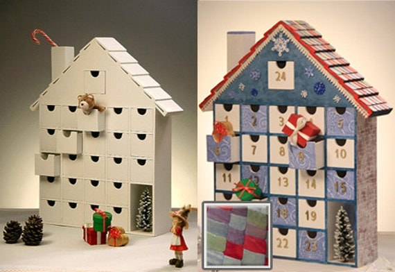Diy Wooden Advent Calendar : Items similar to new wooden advent calendar diy kit on