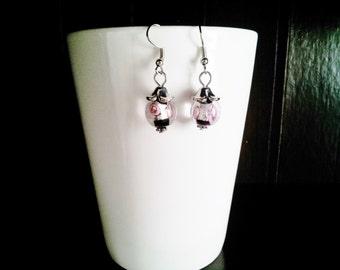 Rose Orb Earrings