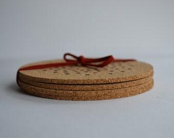 Dot Cork Coasters (Set of 4)
