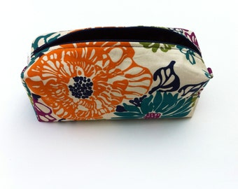 Cosmetic Pouch, Pencil Case, Flower Cosmetic Case