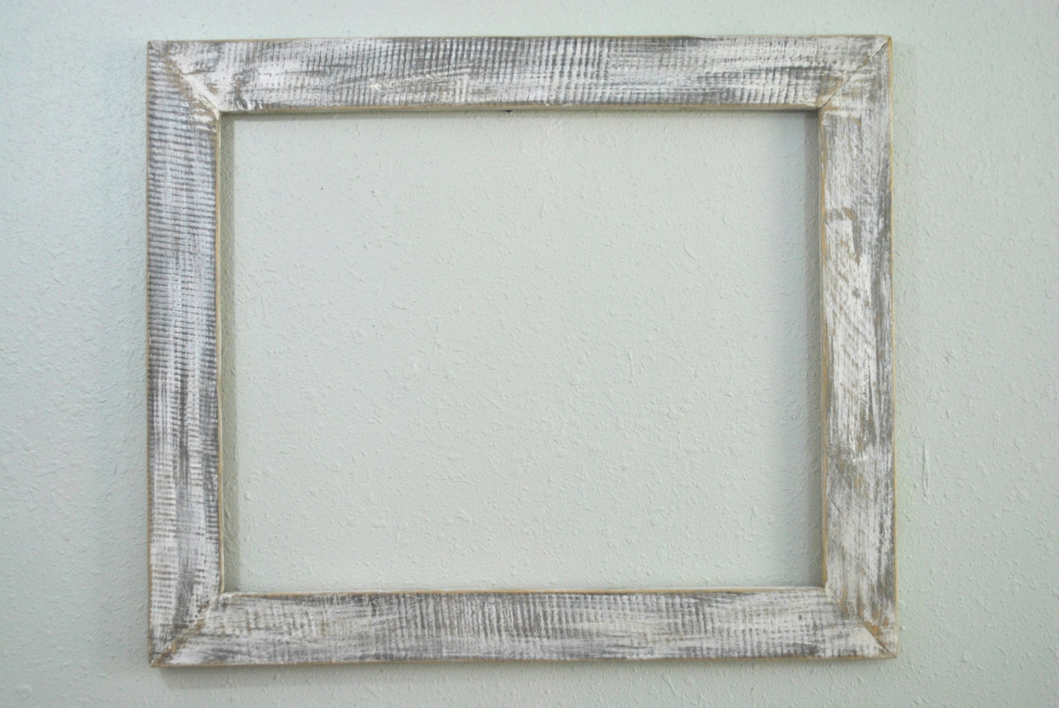 16 x 20 shabby chic wood frame re purposed and weathered old - White wooden picture frames ...