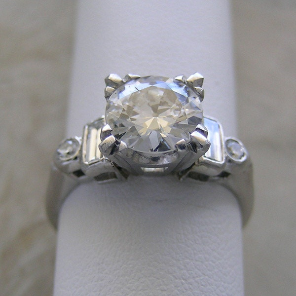 Vintage Engagement Ring Traditional By Marketplacetreasure On Etsy