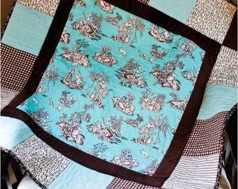 Blue & Brown Baby Quilt