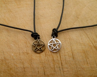 Supernatural Necklace - Devil's Trap Necklace - One Leather necklace