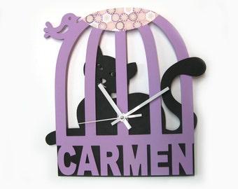 Personalized Wall Clock - Children Clock Customized