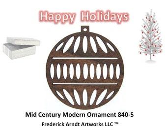 840-5 Mid Century Modern Christmas Ornament