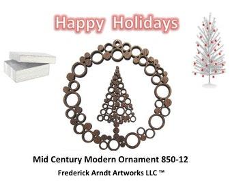 850-12 Mid Century Modern Christmas Ornament