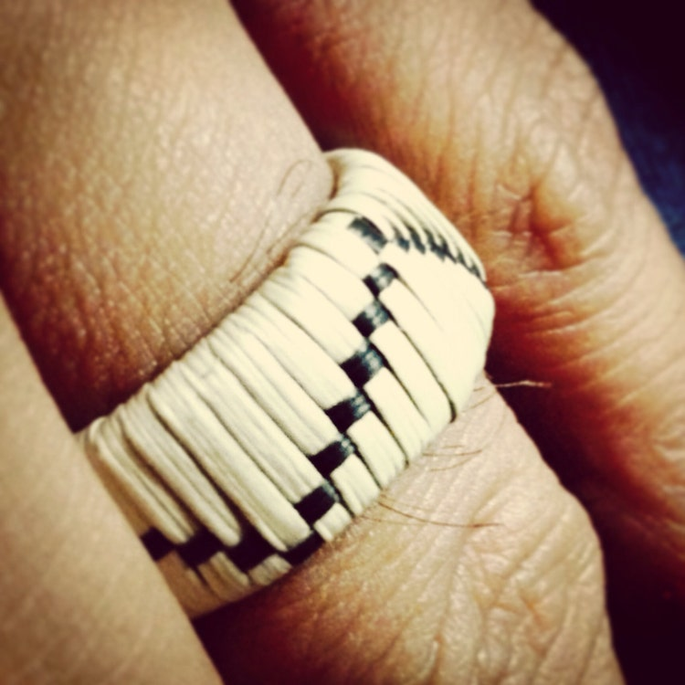 Niyun kgak handwoven pandanus ring by ginenguahan on etsy for Lin s jewelry agana guam