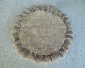 Burlap wedding cake plate