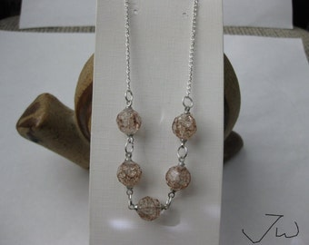 5 Brown Crystal Beads Necklace