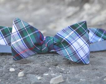 reversible plaid bow tie