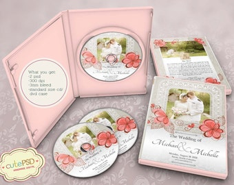 Wedding Dvd Case Floral - Photoshop Templates - CPZ086