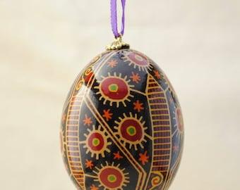 Ukrainian Egg: Rustic Flowers