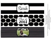 DIY graduation themed  Water bottle labels printable file