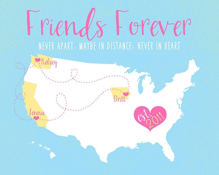 Quotes For Best Friends Who Live Far Apart : Friends forever never apart maybe in distance by wanderingfables