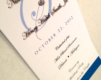 6 Page - WE Personalize YOU Print Wedding Program - Choose Your Design