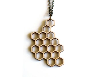 honey necklace - natural