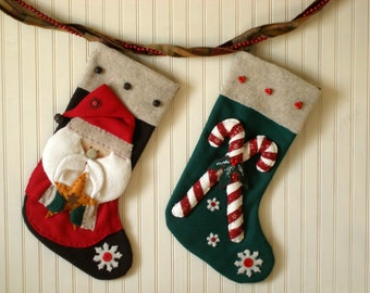 Christmas Stocking Pattern, Santa Stocking, Candy Cane Stocking, Christmas Sewing Pattern, Santa Claus, The Stockings Were Hung,