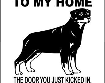 """ROTTWEILER Dog Sign 9""""x12"""" """"ALUMINUM"""" wtmhrot"""