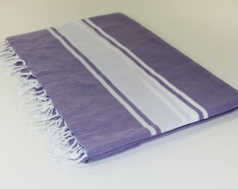 Beach Picnic Oversized Blanket, Beach Towel Blanket, Excellent Quality, 100% Turkish Cotton Lilac