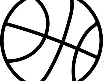 INSTANT DOWNLOAD Basketball 1 vector .eps & 1 .png Vinyl Cutter Ready, T-Shirt, CNC clipart graphic