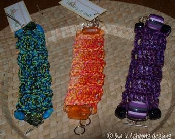 Crochet cuff bracelet, original design