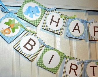 Safari Birthday -Safari Birthday Banner- Safari  Birthday Party