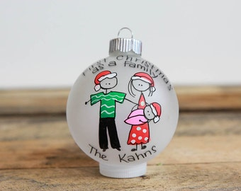 First Christmas as a Family Christmas Ornament - Personalized for Free