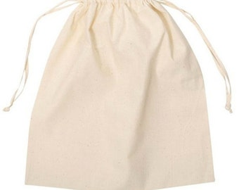 "25 Muslin Bags Large 5"" x 7"""