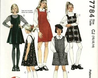 McCalls 7784 1 HOUR Girls Jumper Sz 10 12 14
