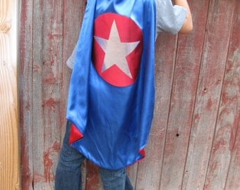 BOY superhero cape:  Choose any color combination we have for a custom super hero cape
