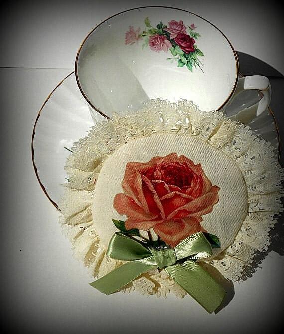 Victorian Sachet Pillows : Victorian Rose Sachet Pillow With Satin by TinyBirdsTreasure