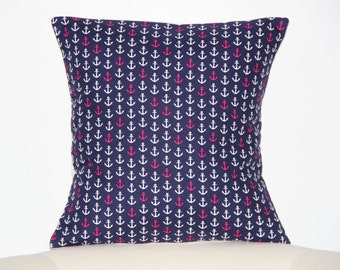 Nautical pillow. Pillow cover and pillow insert