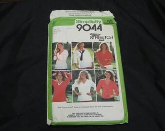 Simplicity 9044 Misses Size H (6 - 8 - 10)  Top UNCUT pattern  1979