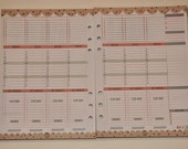 Sale! A5 - MidYear July2015-June2016 - Week on 2 Pages Starter Pack NO TABS - Planner Inserts for Filofax Kikki K - DOTTY Design