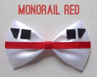 monorail red hair bow