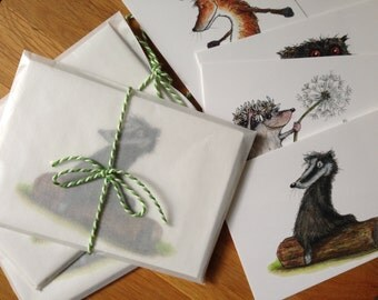 Set of 10 illustrated Postcards. Now temporarily 10 EUR!