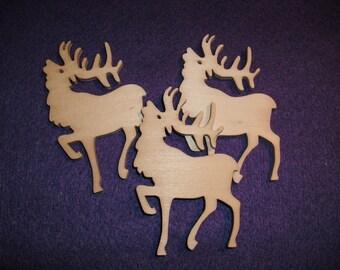 Deer, 3 piece, 5 x 8 cm (10-0021A)