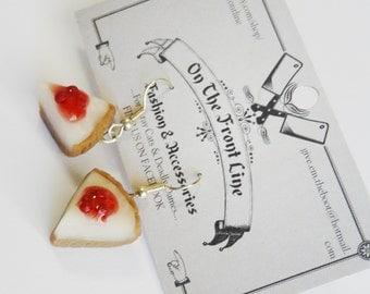 Cherry Cheesecake Earrings Strawberry Miniature Cake Sweet Food Kawaii Raspberry Lolita Decoden Decora Jewellery