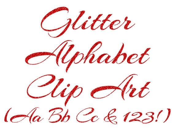 Ben noto Clipart alfabeto rosso rosso Glitter lettere numeri Clipart WQ48