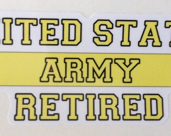 Military Decal- Retired Army