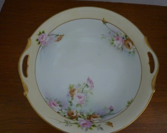VINTAGE NIPPON BOWL. Handpainted Nippon Bowl. Collectable Nippon.  Florals And Roses. Vintage Home Decor, Cottage Chic.