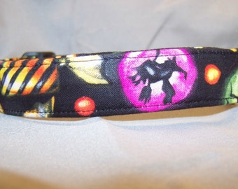 Haunted Candy Halloween Dog Collar