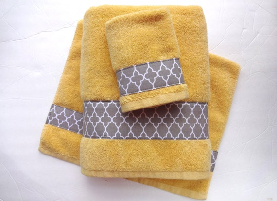 pick your size towel yellow and grey towels gray and by augustave. Black Bedroom Furniture Sets. Home Design Ideas