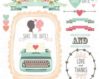 Typewriter clipart – Etsy