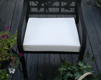 Indoor / Outdoor Universal Foam Seat Cushion with ties - Solid Natural White - Choose Size