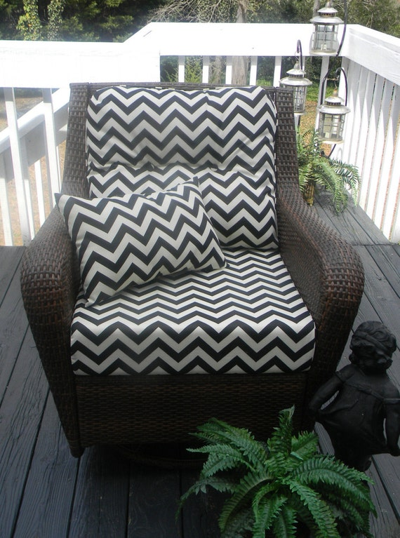 Indoor Outdoor Deep Seating Chair Cushion Set Seat & Back