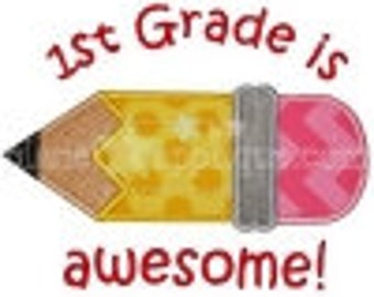 School is Awesome Applique