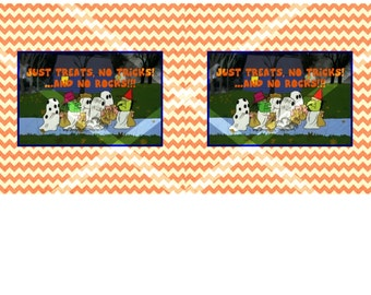 Great Pumpkin Candy Bar Wrappers Digital Download