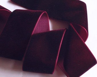 3 yards 1.5 inches Velvet Ribbon in Wine RY15-238